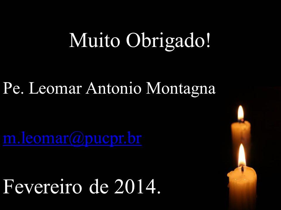 Muito Obrigado! Fevereiro de 2014. Pe. Leomar Antonio Montagna