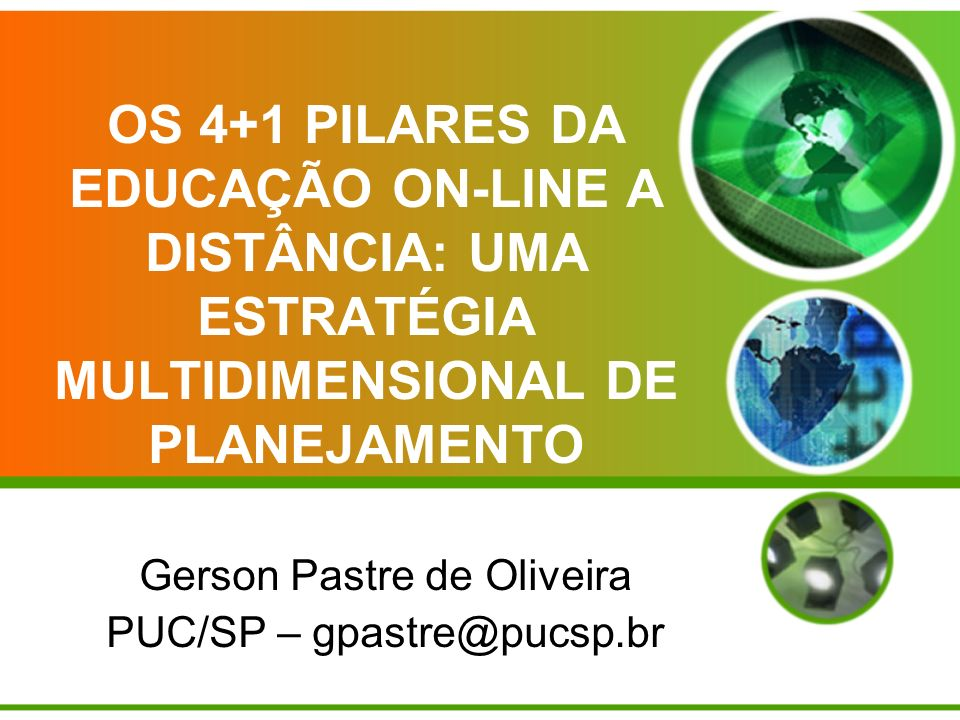Gerson Pastre de Oliveira PUC/SP – gpastre@pucsp.br