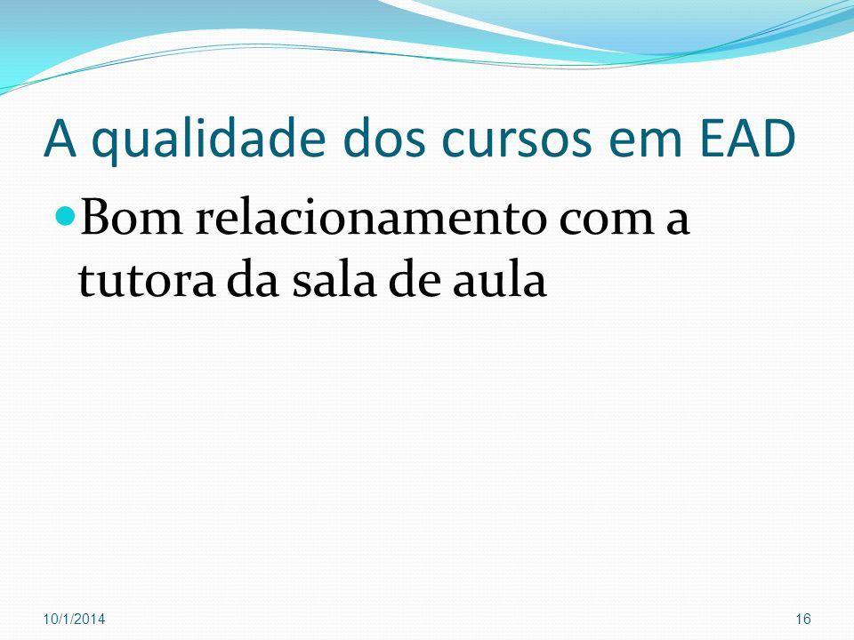 A qualidade dos cursos em EAD
