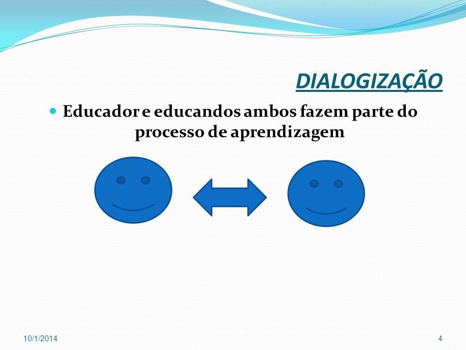 Educador e educandos ambos fazem parte do processo de aprendizagem
