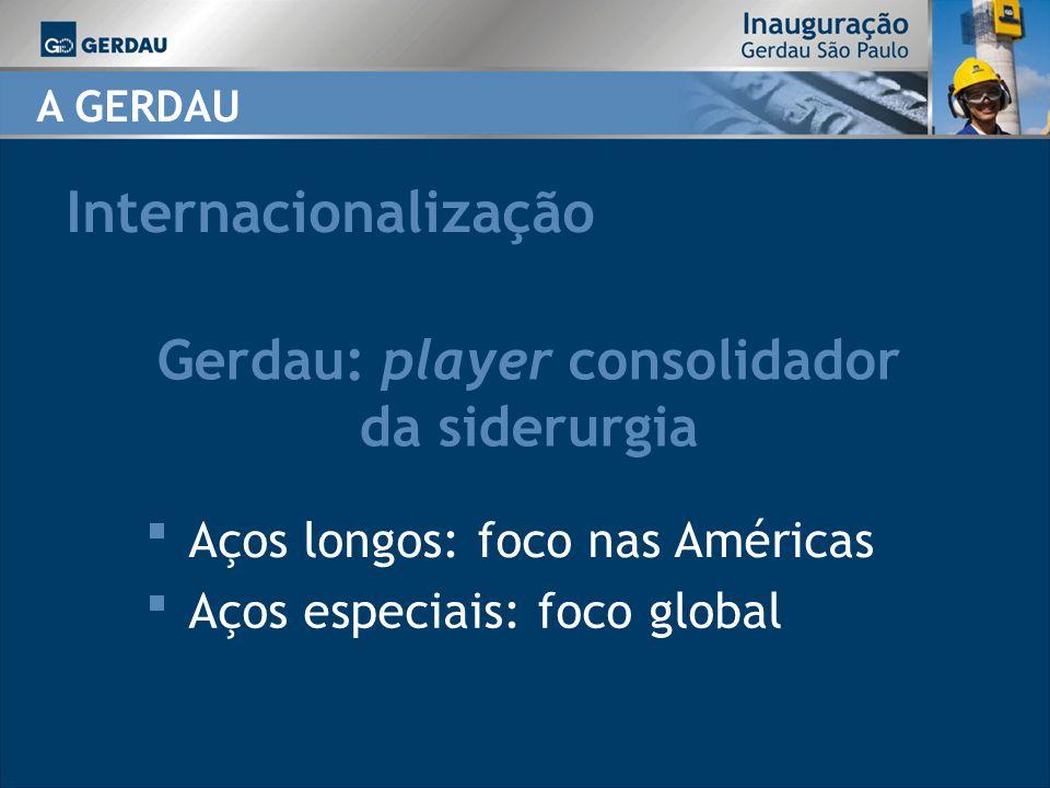 Gerdau: player consolidador da siderurgia