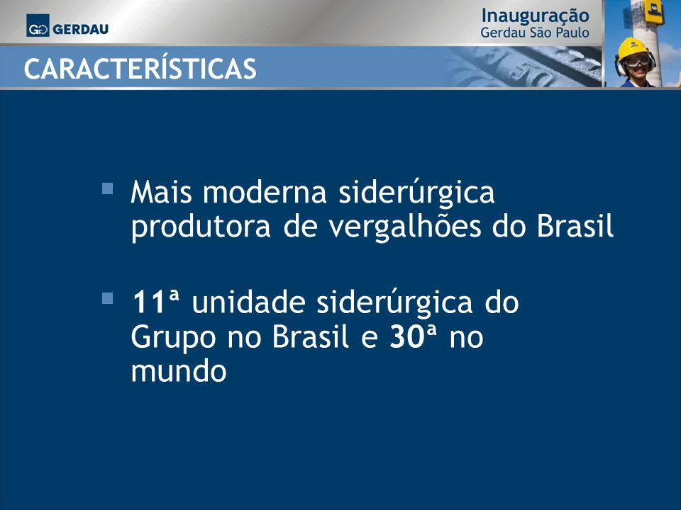 Mais moderna siderúrgica produtora de vergalhões do Brasil