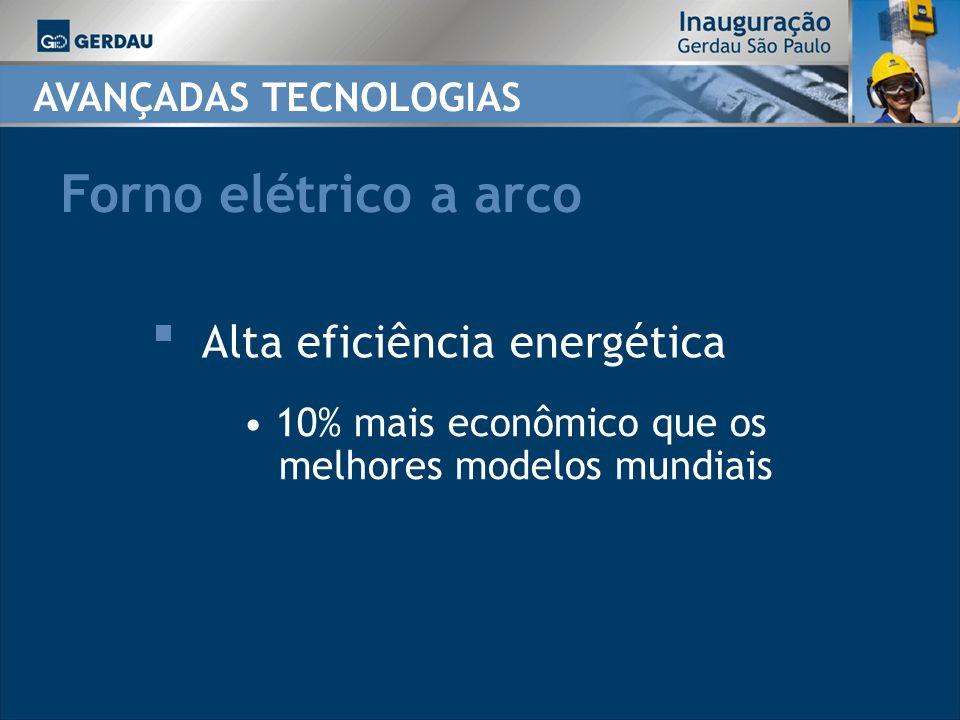 Forno elétrico a arco Alta eficiência energética AVANÇADAS TECNOLOGIAS