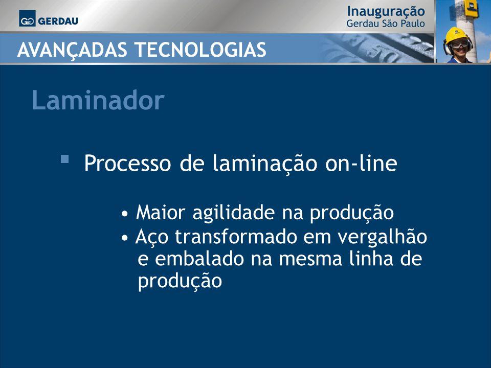 Laminador Processo de laminação on-line AVANÇADAS TECNOLOGIAS