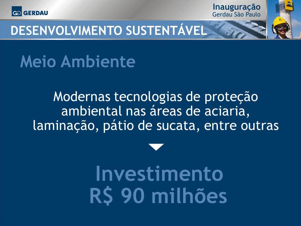 Investimento R$ 90 milhões Meio Ambiente