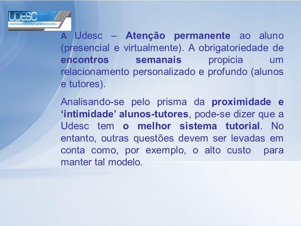 A Udesc – Atenção permanente ao aluno (presencial e virtualmente)