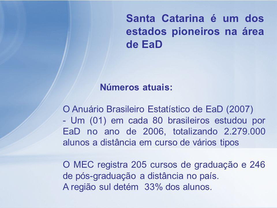 Santa Catarina é um dos estados pioneiros na área de EaD