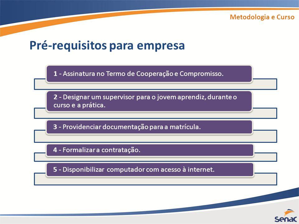 Pré-requisitos para empresa