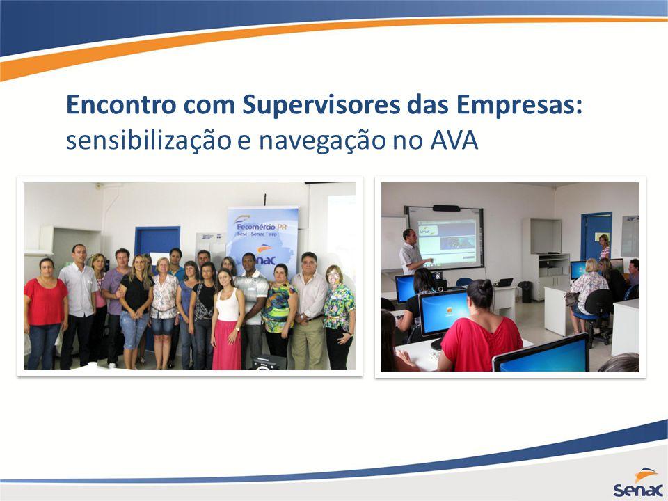 Encontro com Supervisores das Empresas: sensibilização e navegação no AVA