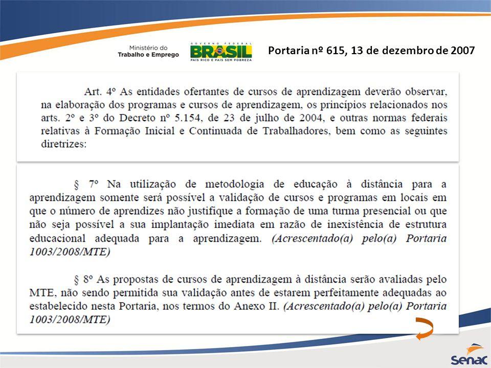 Portaria nº 615, 13 de dezembro de 2007