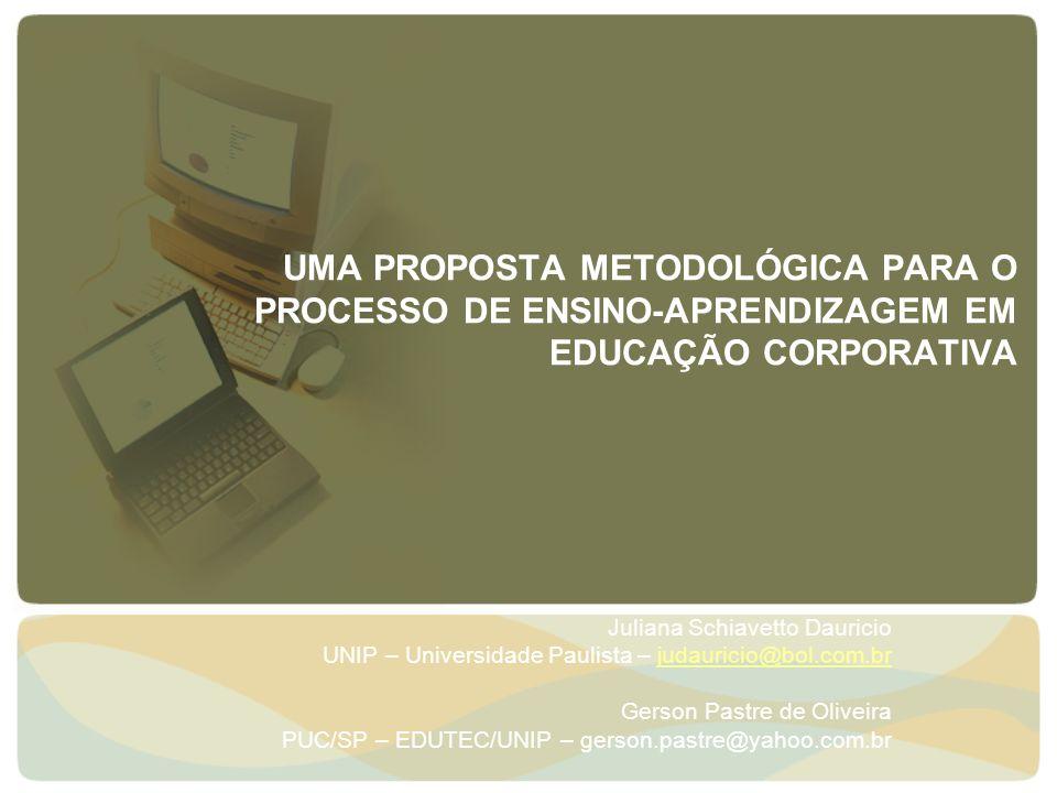 UMA PROPOSTA METODOLÓGICA PARA O PROCESSO DE ENSINO-APRENDIZAGEM EM EDUCAÇÃO CORPORATIVA