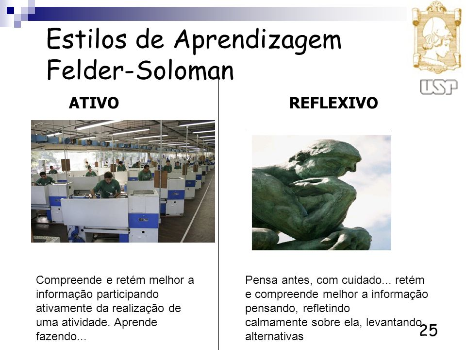 Estilos de Aprendizagem Felder-Soloman