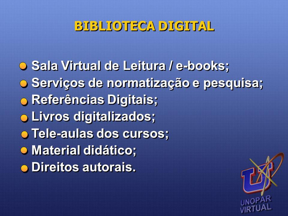 BIBLIOTECA DIGITAL Sala Virtual de Leitura / e-books; Serviços de normatização e pesquisa; Referências Digitais;