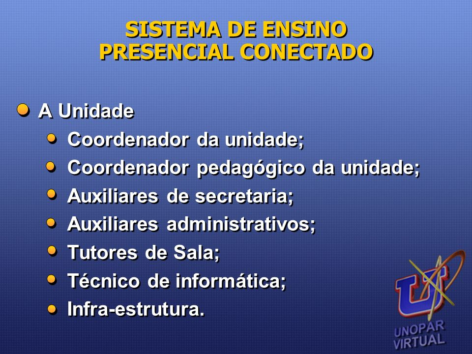 SISTEMA DE ENSINO PRESENCIAL CONECTADO