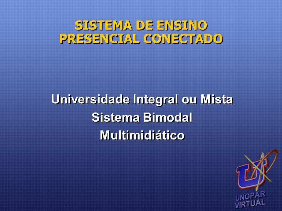 Universidade Integral ou Mista Sistema Bimodal Multimidiático
