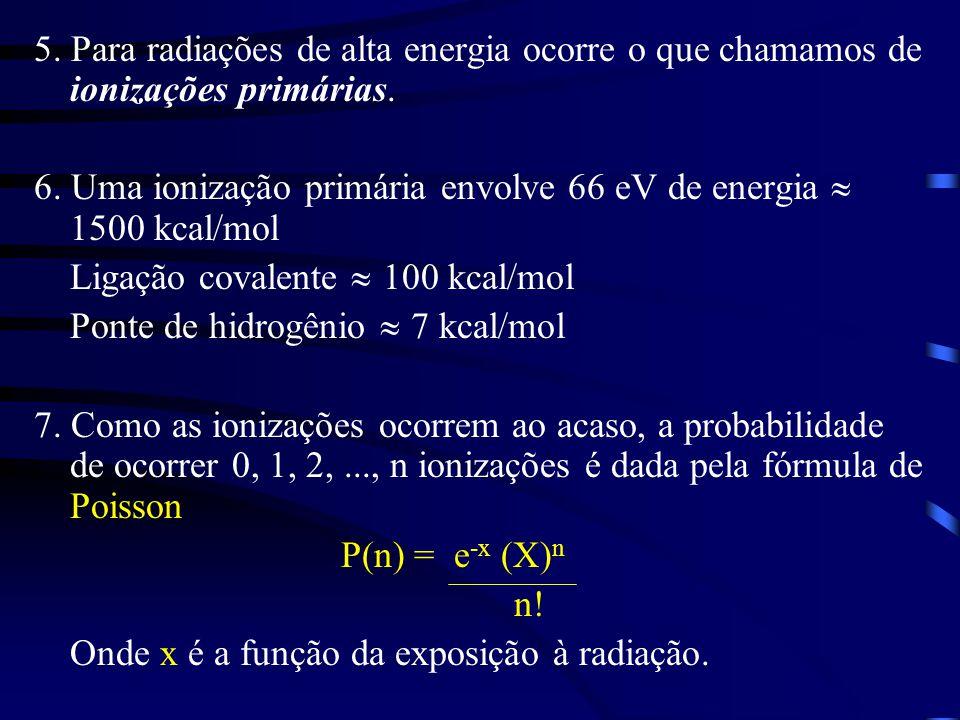 5. Para radiações de alta energia ocorre o que chamamos de ionizações primárias.
