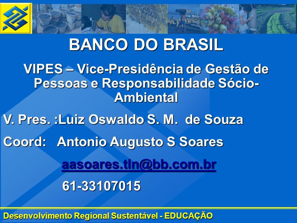 BANCO DO BRASIL VIPES – Vice-Presidência de Gestão de Pessoas e Responsabilidade Sócio-Ambiental. V. Pres. :Luiz Oswaldo S. M. de Souza.