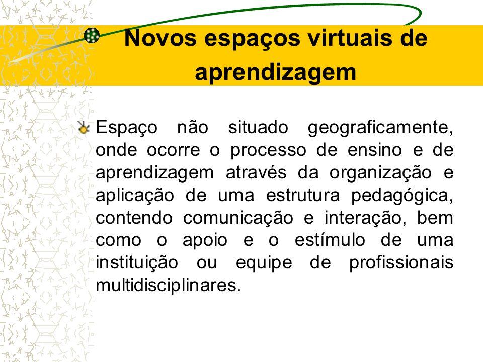 Novos espaços virtuais de aprendizagem