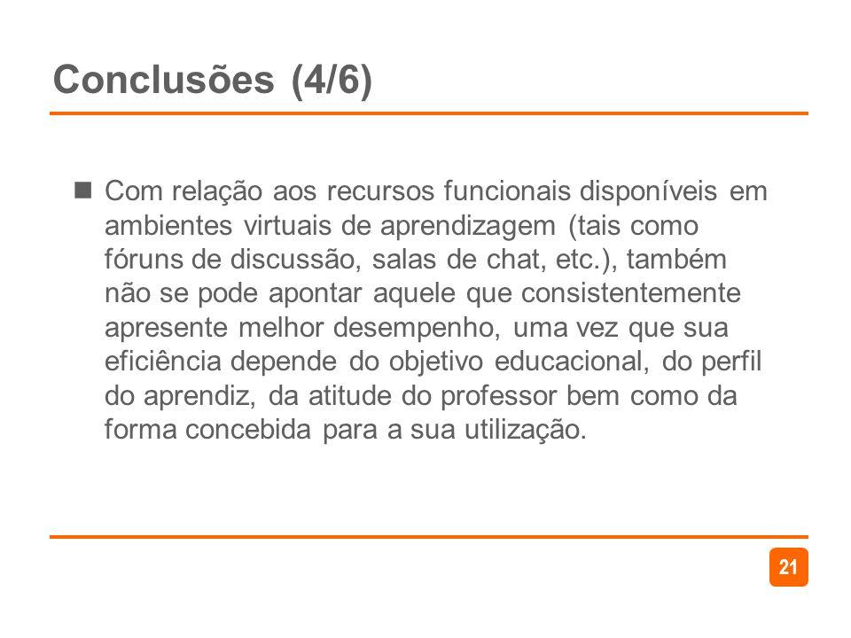 Conclusões (4/6)