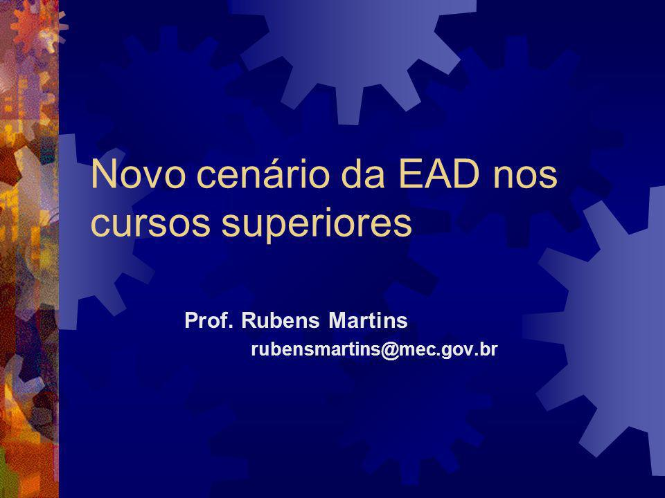 Novo cenário da EAD nos cursos superiores