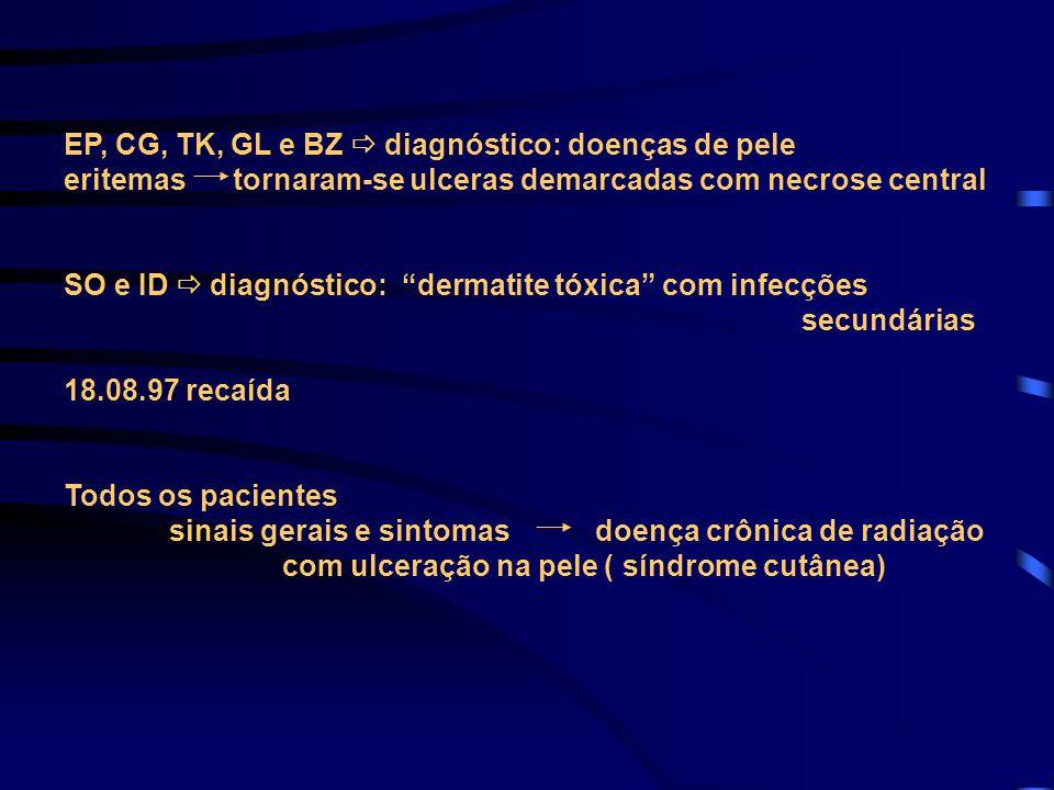 EP, CG, TK, GL e BZ  diagnóstico: doenças de pele