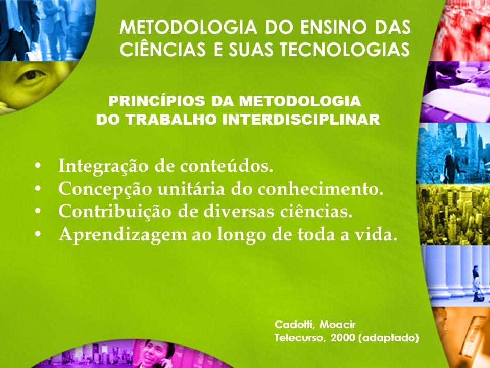 PRINCÍPIOS DA METODOLOGIA DO TRABALHO INTERDISCIPLINAR