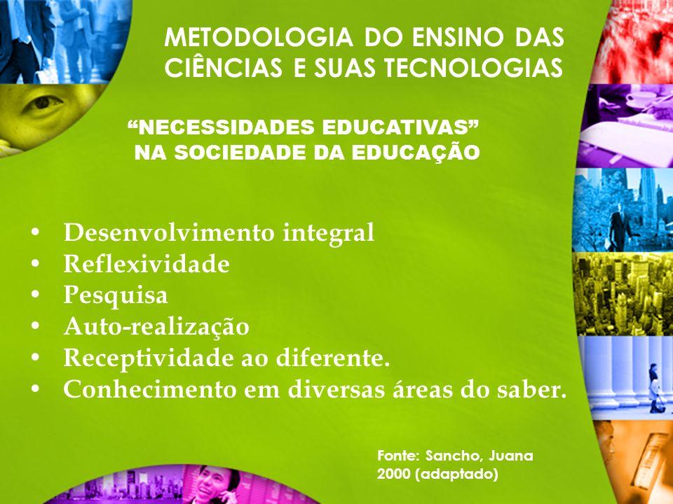 NECESSIDADES EDUCATIVAS NA SOCIEDADE DA EDUCAÇÃO