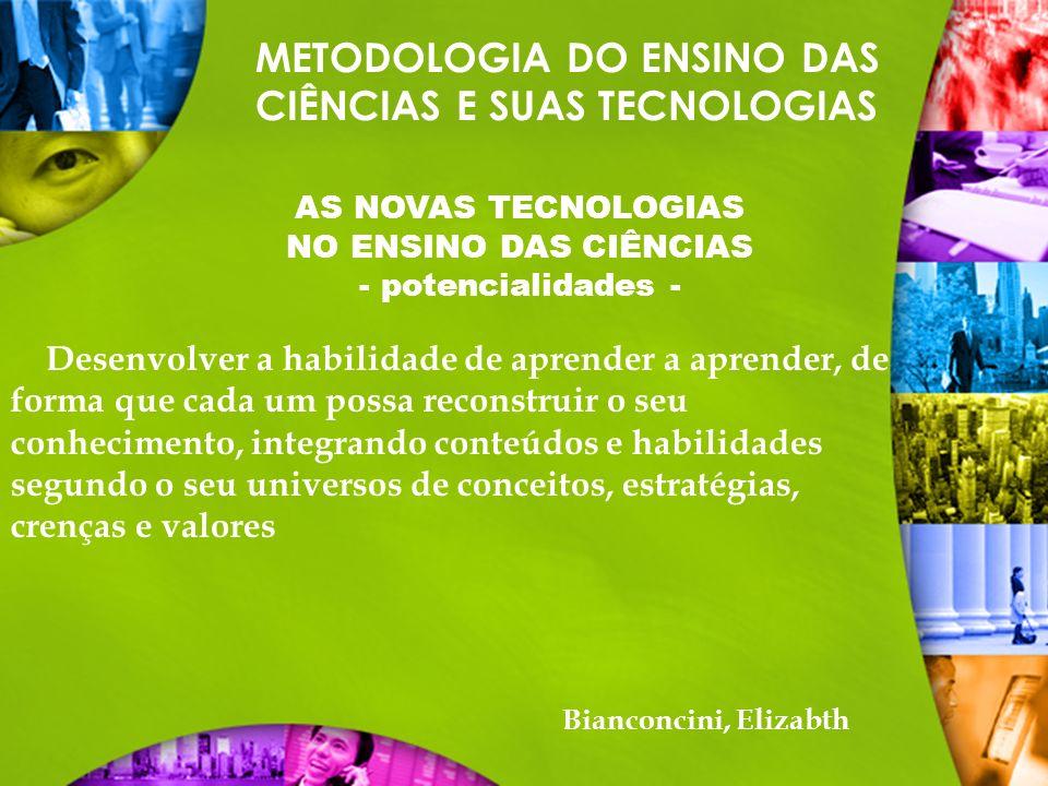 METODOLOGIA DO ENSINO DAS CIÊNCIAS E SUAS TECNOLOGIAS