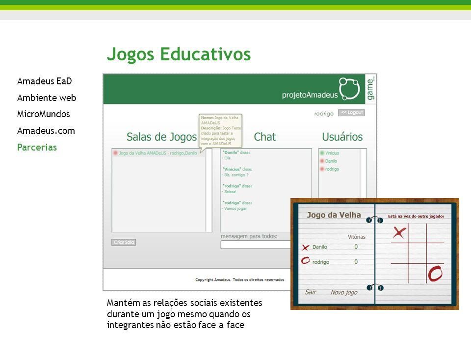 Jogos Educativos Amadeus EaD Ambiente web MicroMundos Amadeus.com