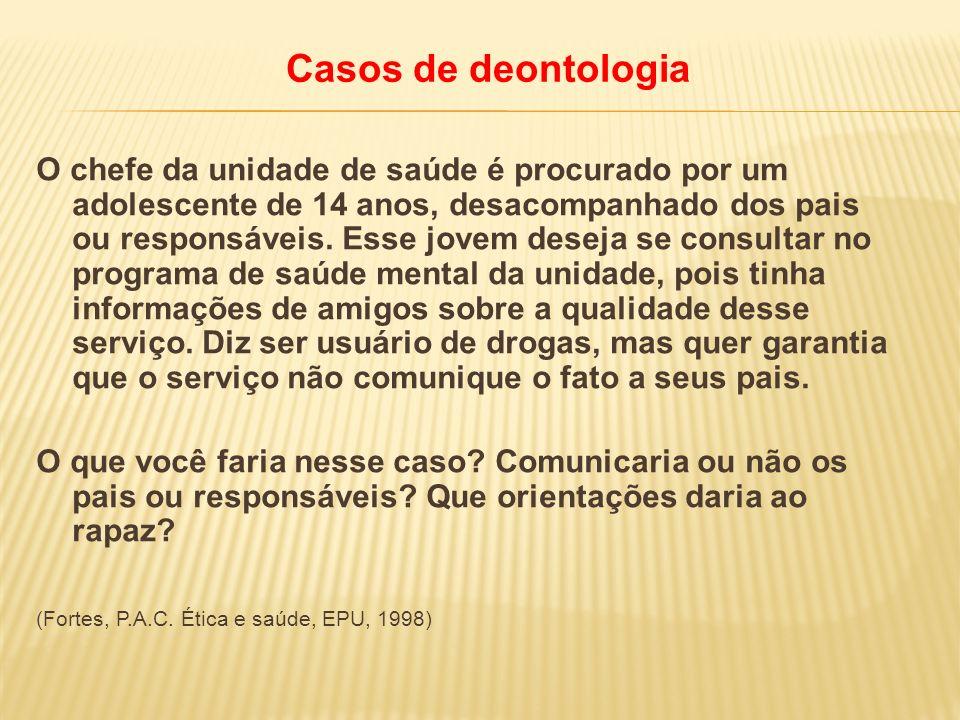 Casos de deontologia
