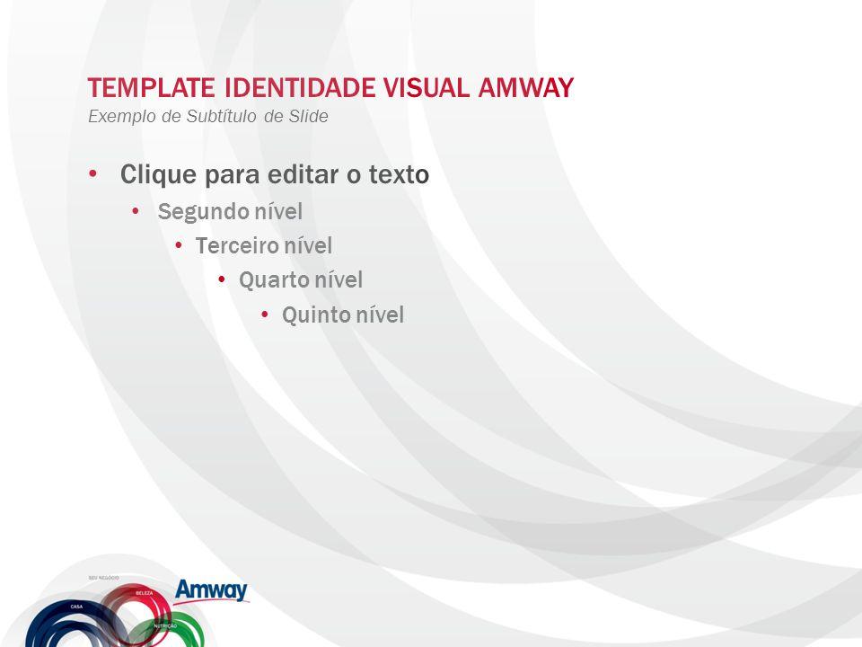TEMPLATE IDENTIDADE VISUAL AMWAY