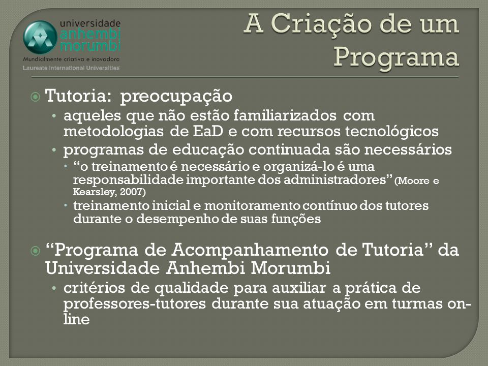 A Criação de um Programa