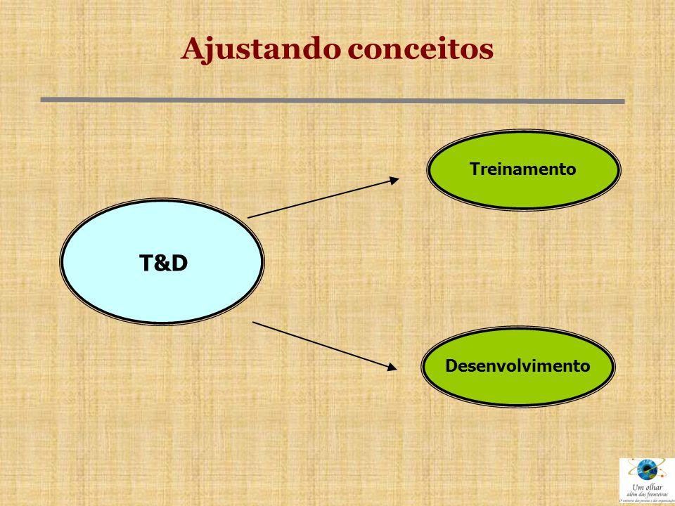 Ajustando conceitos Treinamento T&D Desenvolvimento