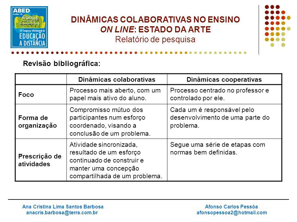 DINÂMICAS COLABORATIVAS NO ENSINO