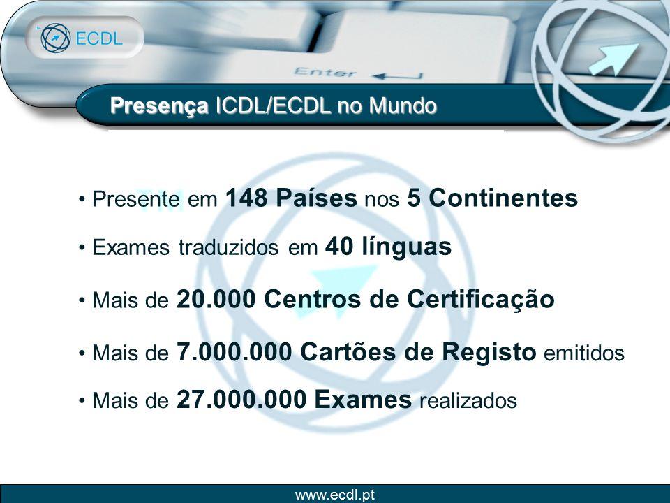 Presença ICDL/ECDL no Mundo