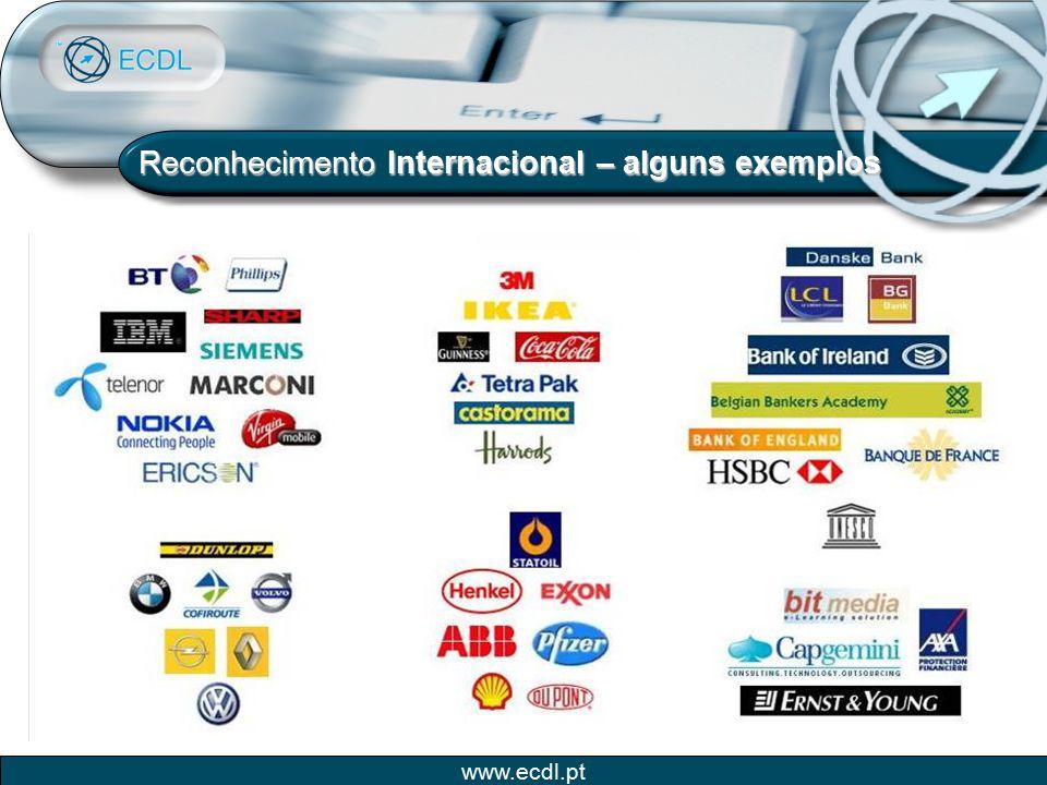Reconhecimento Internacional – alguns exemplos