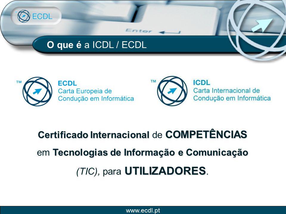 O que é a ICDL / ECDL Certificado Internacional de COMPETÊNCIAS em Tecnologias de Informação e Comunicação (TIC), para UTILIZADORES.