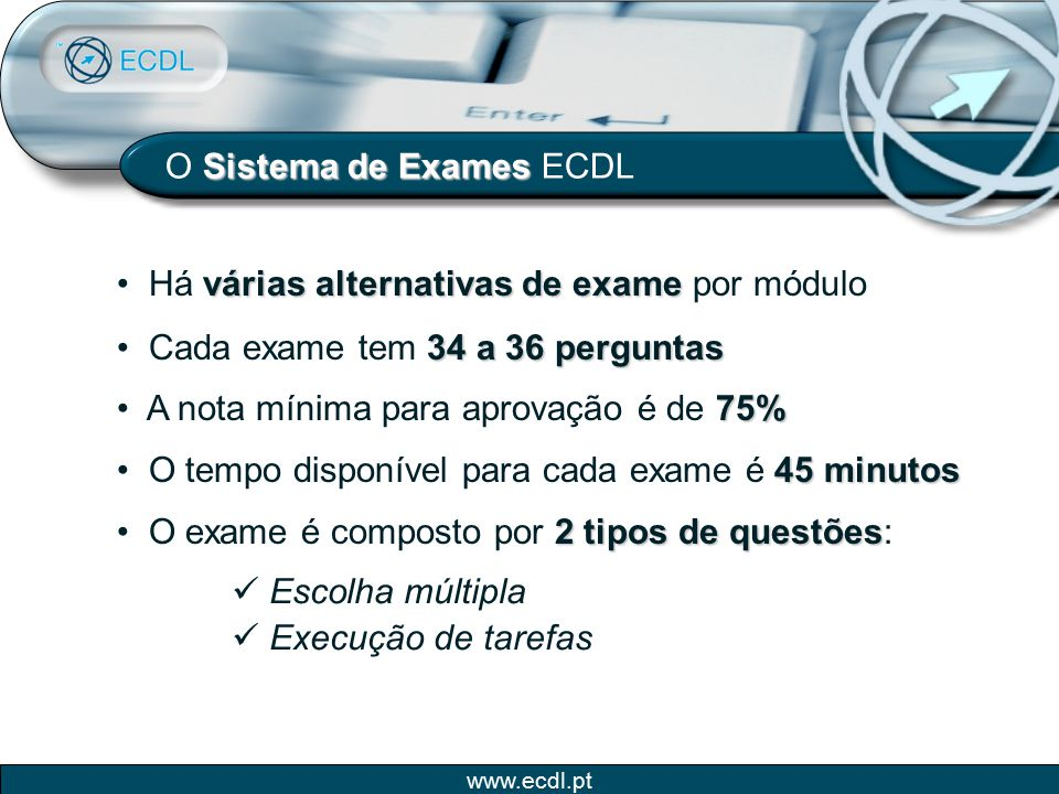 O Sistema de Exames ECDL