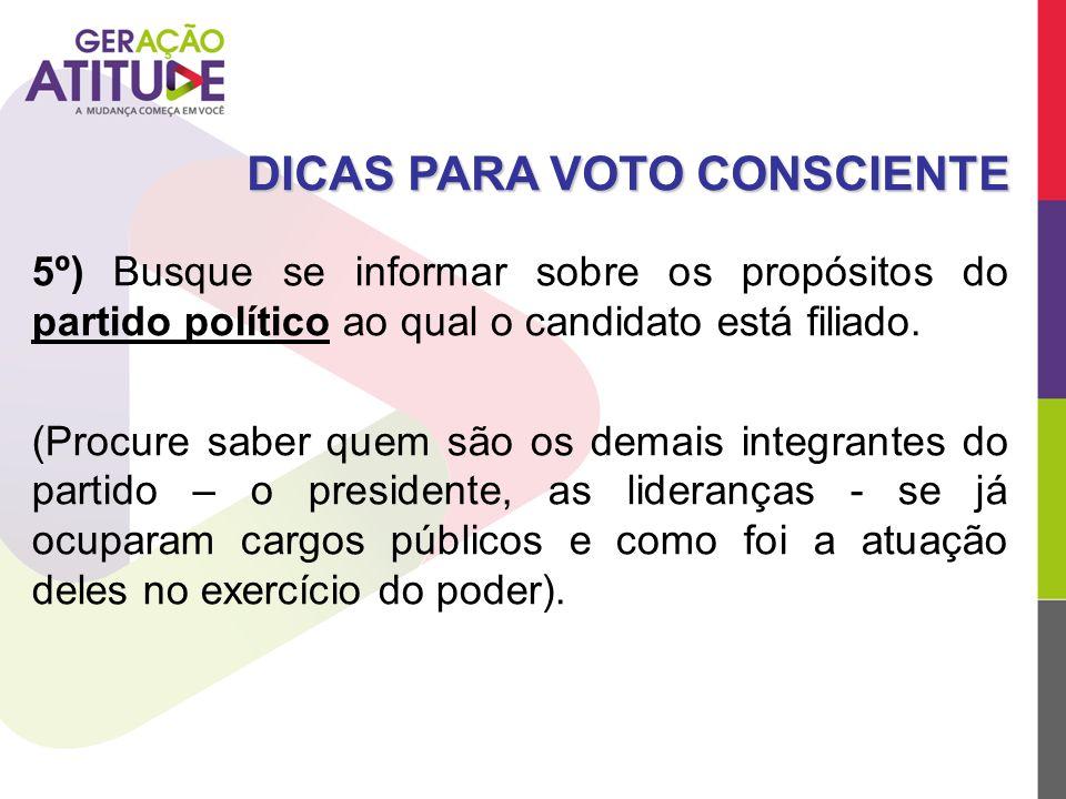 DICAS PARA VOTO CONSCIENTE
