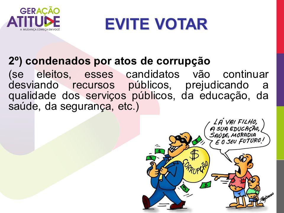 EVITE VOTAR 2º) condenados por atos de corrupção