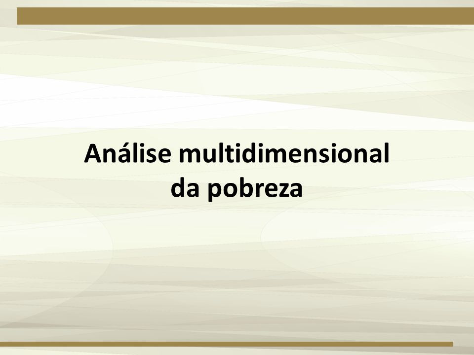 Análise multidimensional