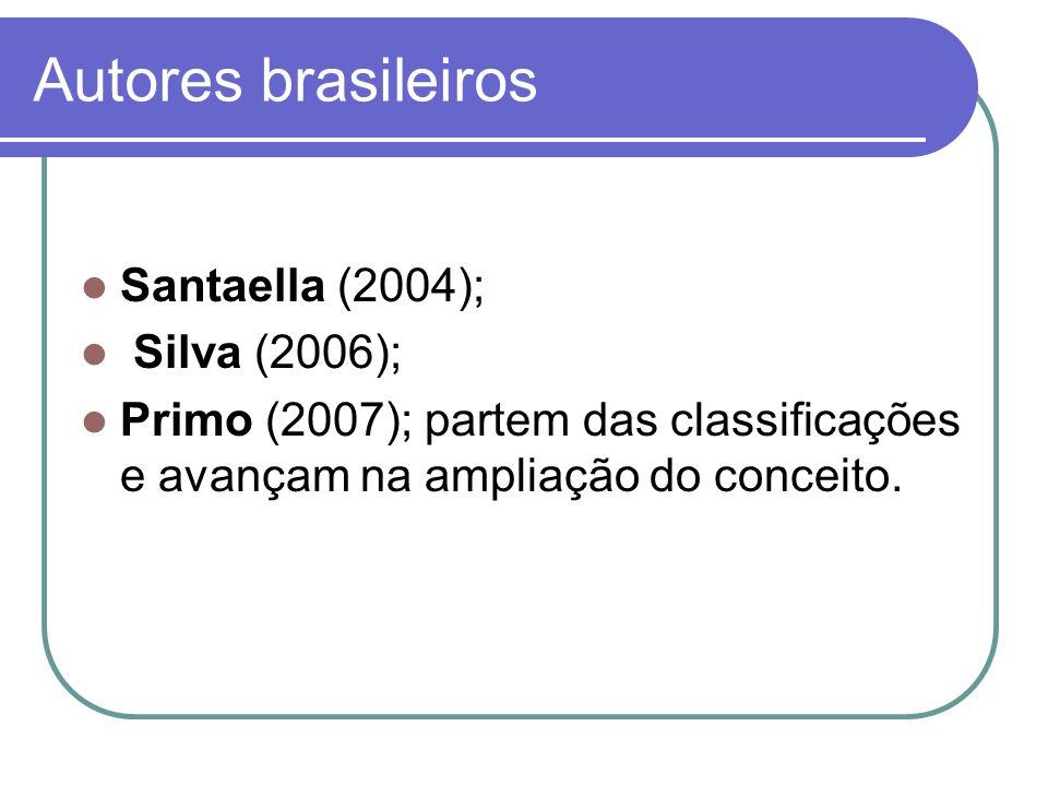 Autores brasileiros Santaella (2004); Silva (2006);