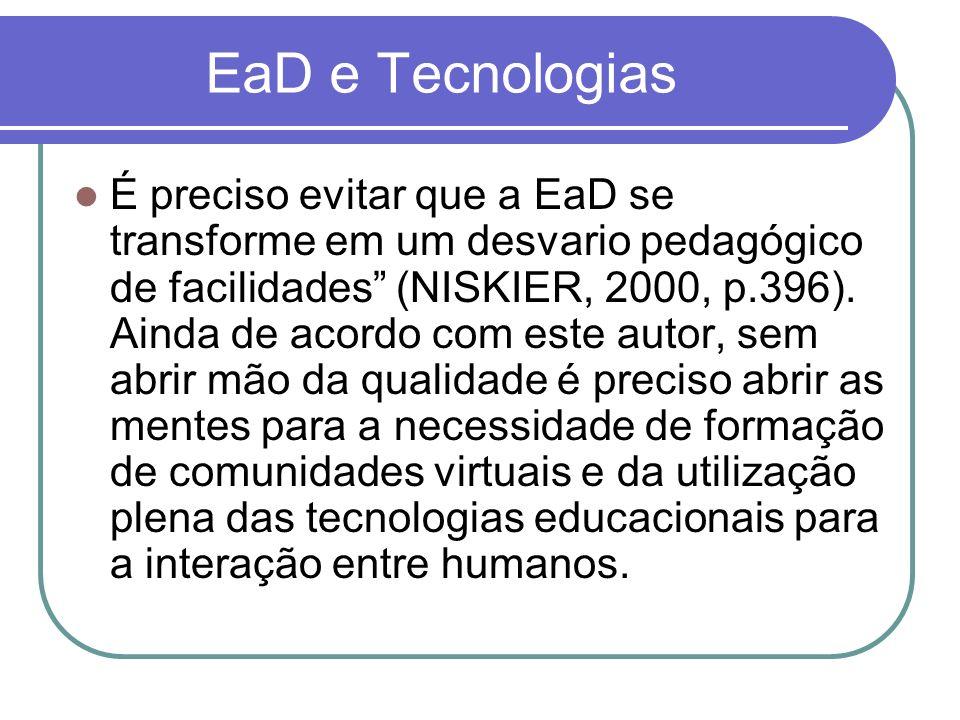 EaD e Tecnologias
