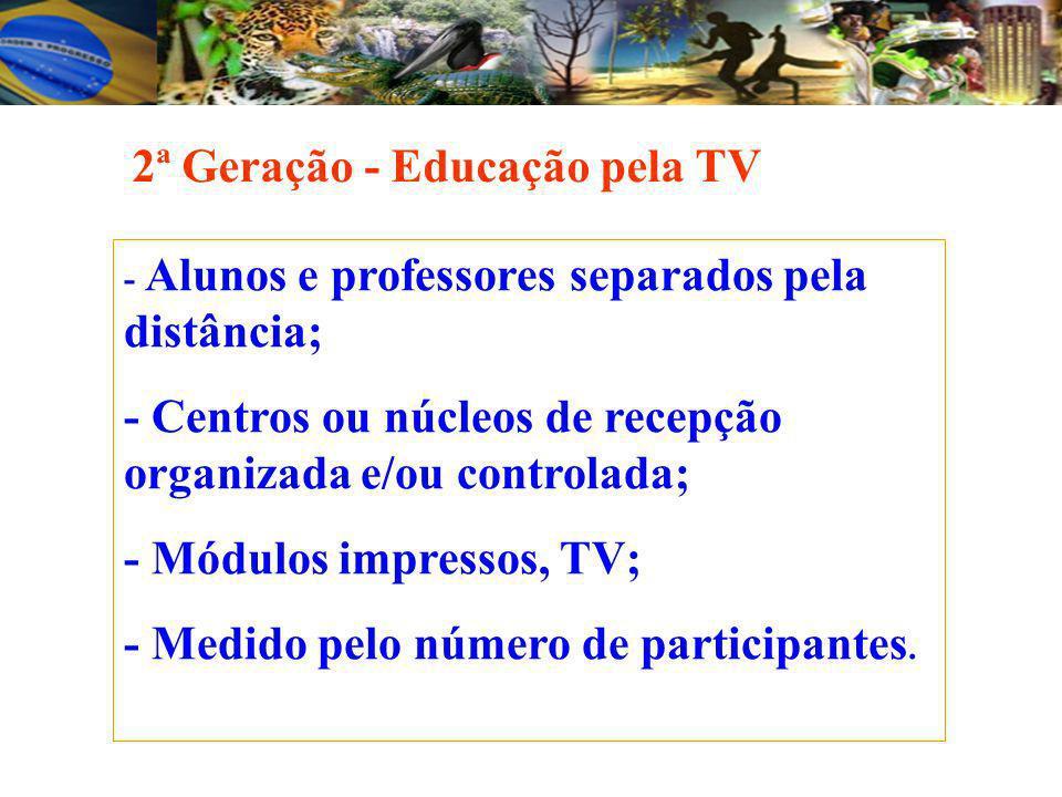 2ª Geração - Educação pela TV