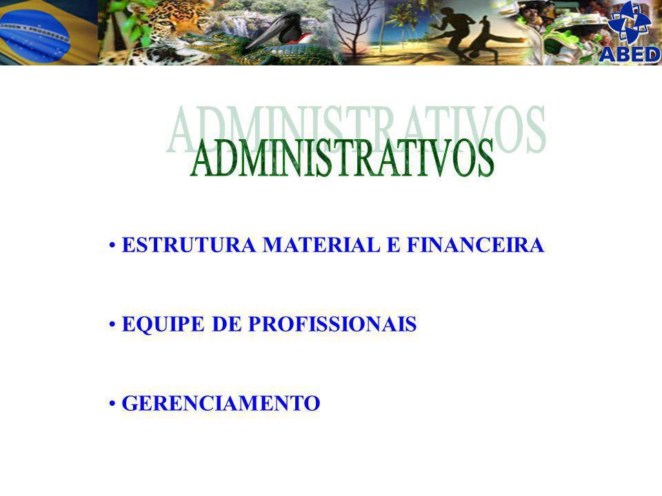 ADMINISTRATIVOS ESTRUTURA MATERIAL E FINANCEIRA