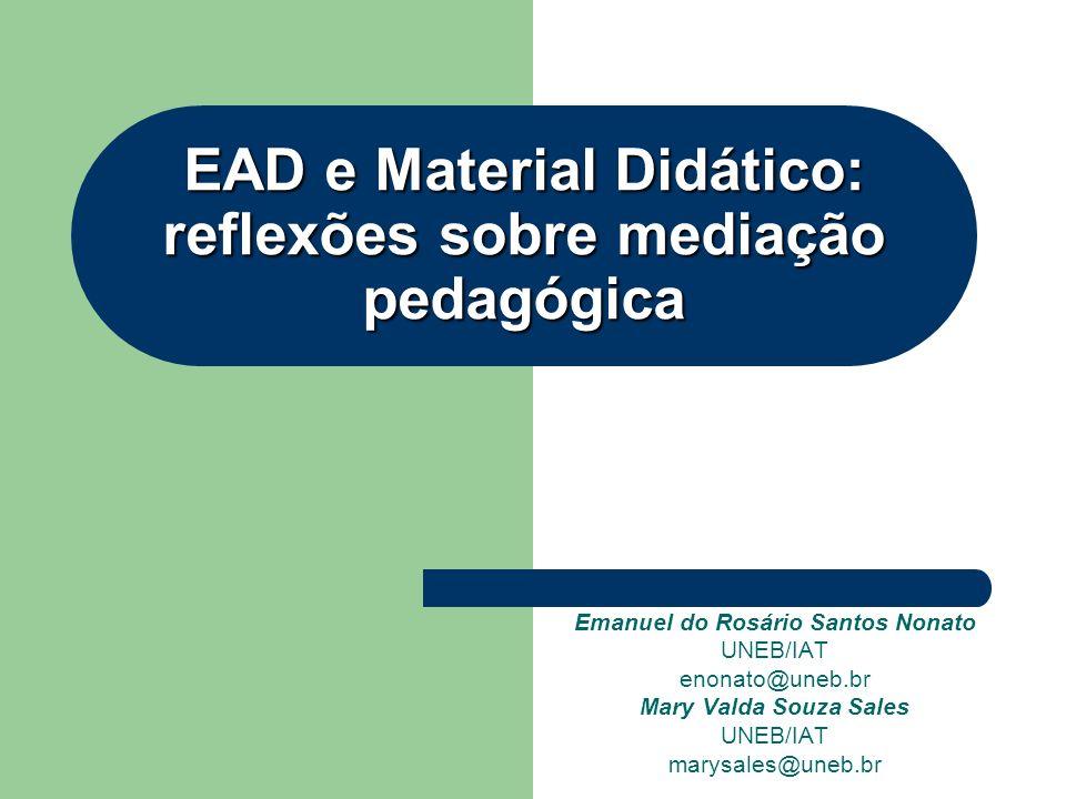 EAD e Material Didático: reflexões sobre mediação pedagógica