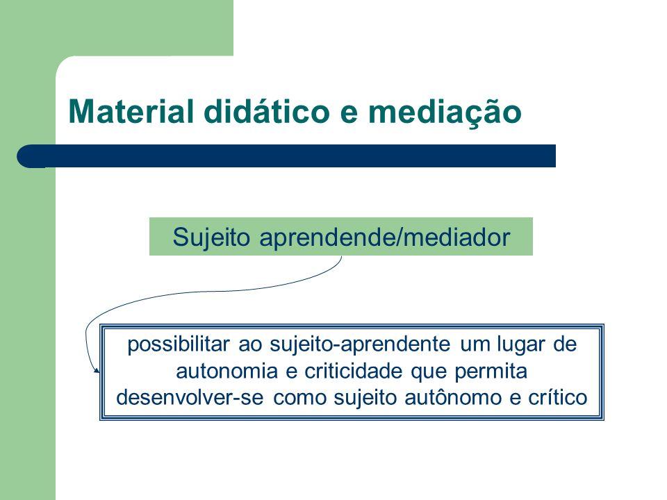 Material didático e mediação