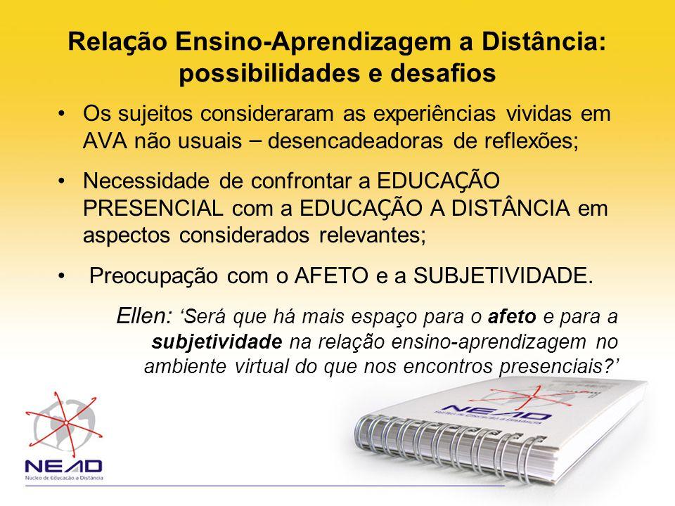 Relação Ensino-Aprendizagem a Distância: possibilidades e desafios