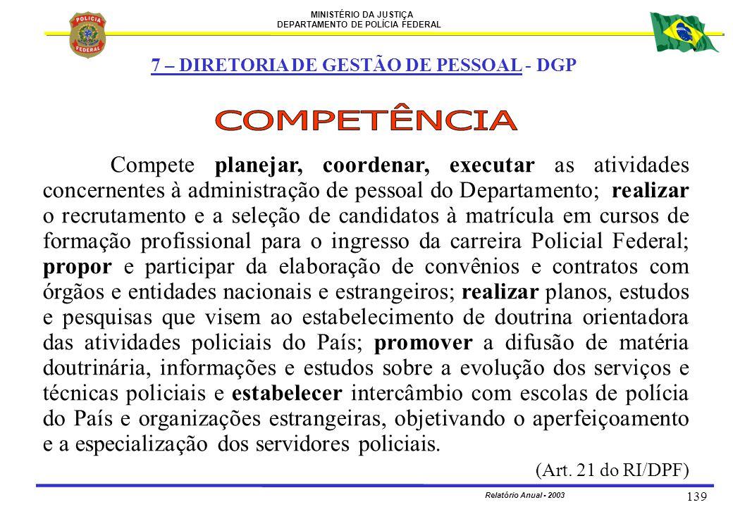 7 – DIRETORIA DE GESTÃO DE PESSOAL - DGP