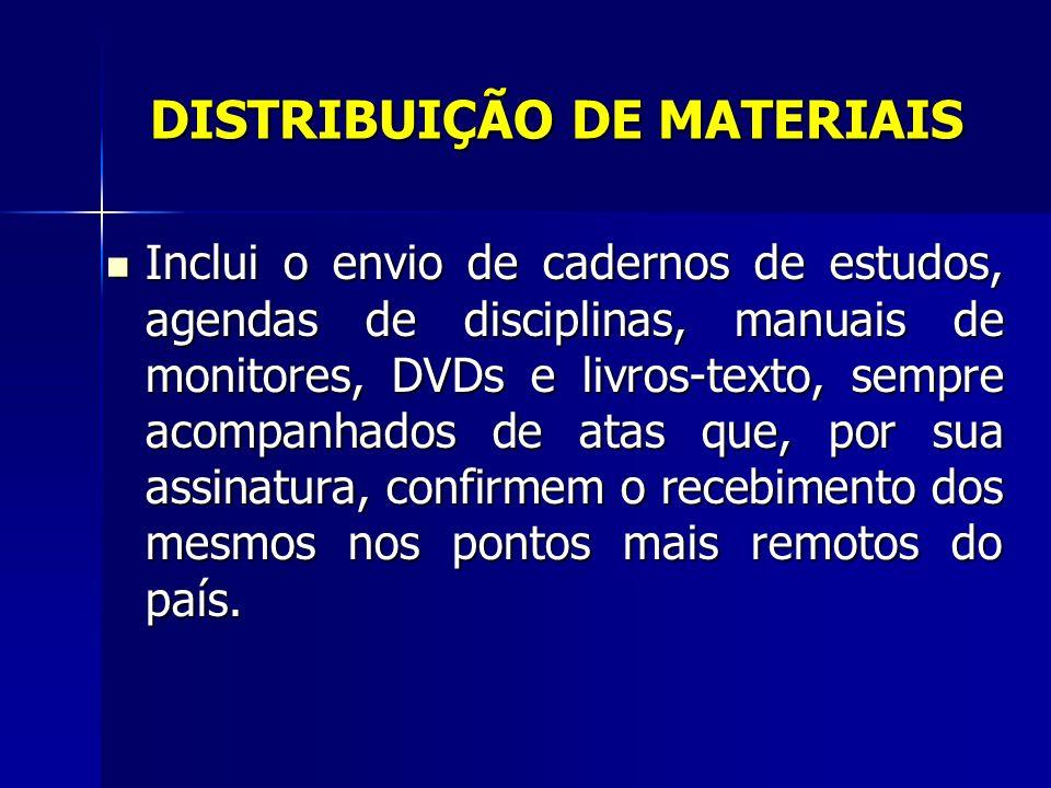 DISTRIBUIÇÃO DE MATERIAIS